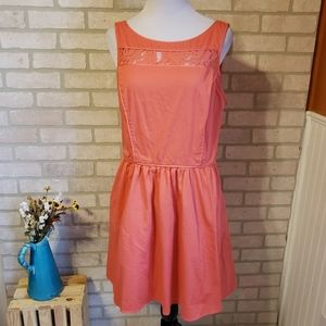 Jessica Simpson Coral Lace Detail Dress